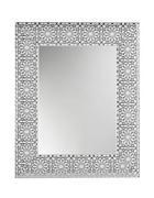 STENSKO OGLEDALO, 78/63/2,5 cm steklo - bela/srebrna, Design, steklo/les (78/63/2,5cm) - Xora