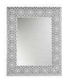 WANDSPIEGEL  78/63/2,5 cm - Silberfarben/Weiß, Design, Glas/Holz (78/63/2,5cm)