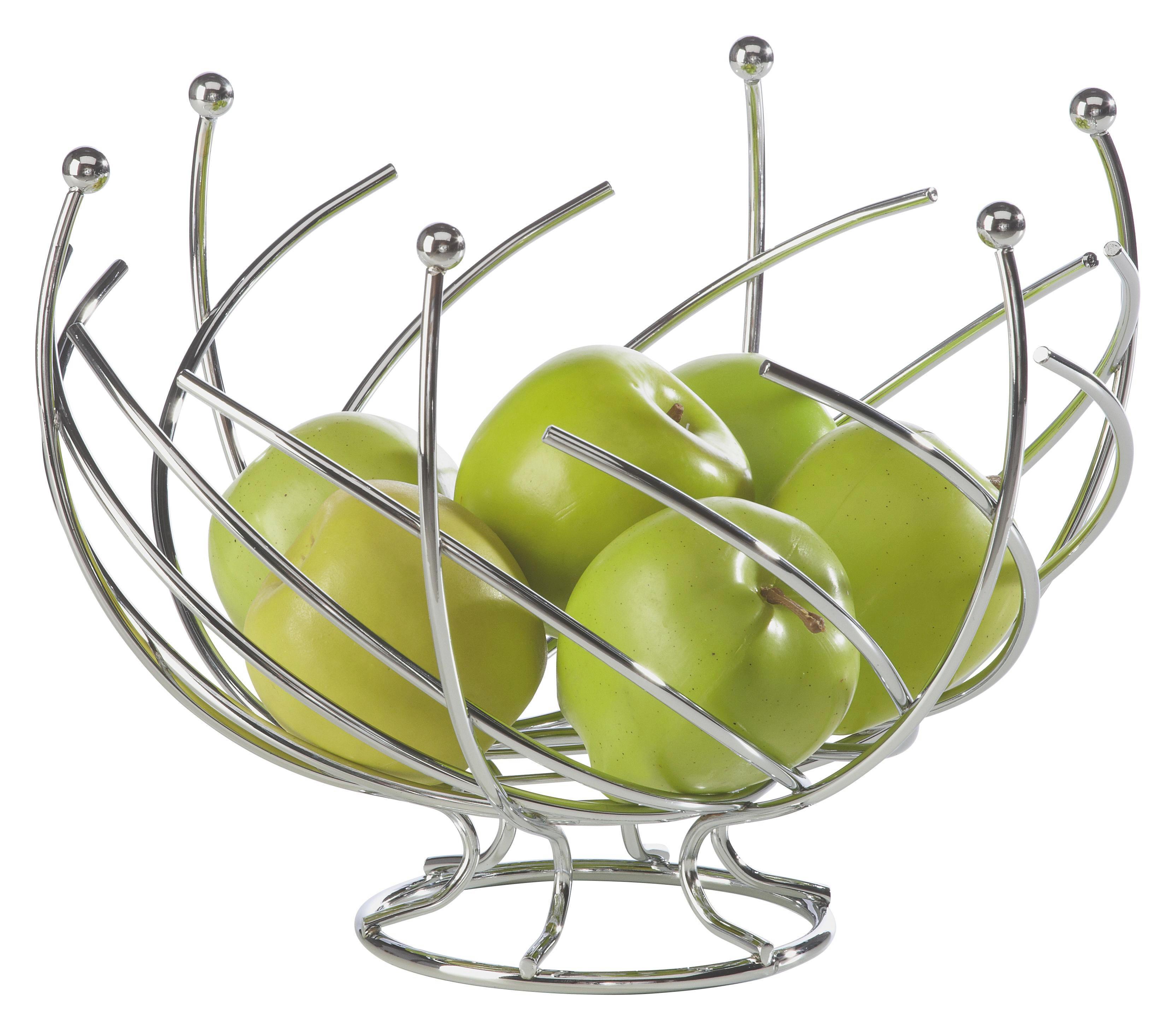 SKLEDA ZA SADJE - srebrna, Konvencionalno, kovina (29cm) - JUSTINUS