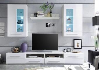 REGAL - bijela/boje srebra, Design, drvni materijal/drvo (240/190/42cm) - XORA