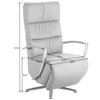 Excellent Cantus Relaxsessel In Petrol Leder Design Ledermetall With