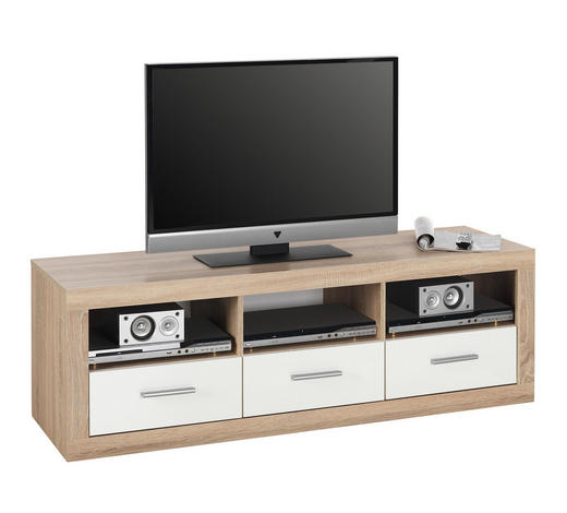 TV-ELEMENT 147/49/45 cm  - Silberfarben/Weiß, Design, Holzwerkstoff/Kunststoff (147/49/45cm) - Boxxx