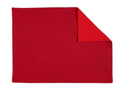 PROSTÍRÁNÍ - bordeaux/červená, Basics, textil (35/46cm) - LINUM