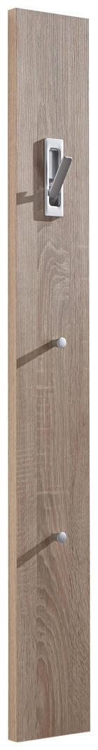 GARDEROBENPANEEL 15/120/2.5 cm - Eichefarben, Design, Holzwerkstoff (15/120/2.5cm)