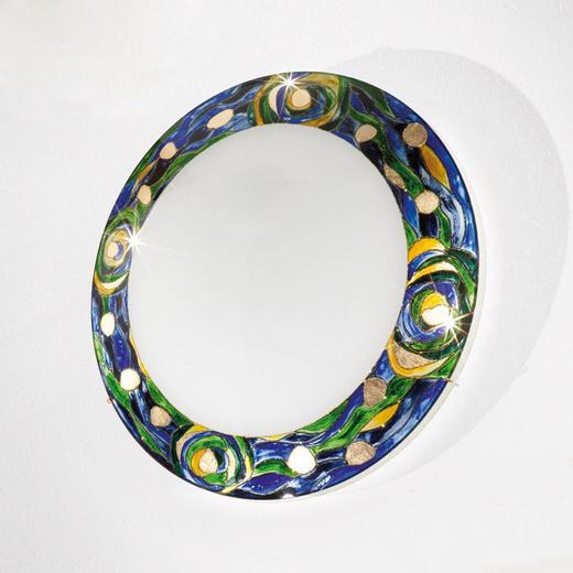 DECKENLEUCHTE - Blau/Grün, LIFESTYLE, Glas/Metall (40/9cm)