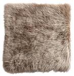 SITZKISSEN Taupe 34/34 cm  - Taupe, KONVENTIONELL, Textil/Fell (34/34cm) - Esposa