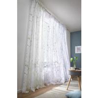 Fertigvorhang halbtransparent - Weiß/Grau, KONVENTIONELL, Textil (135/245cm) - Esposa