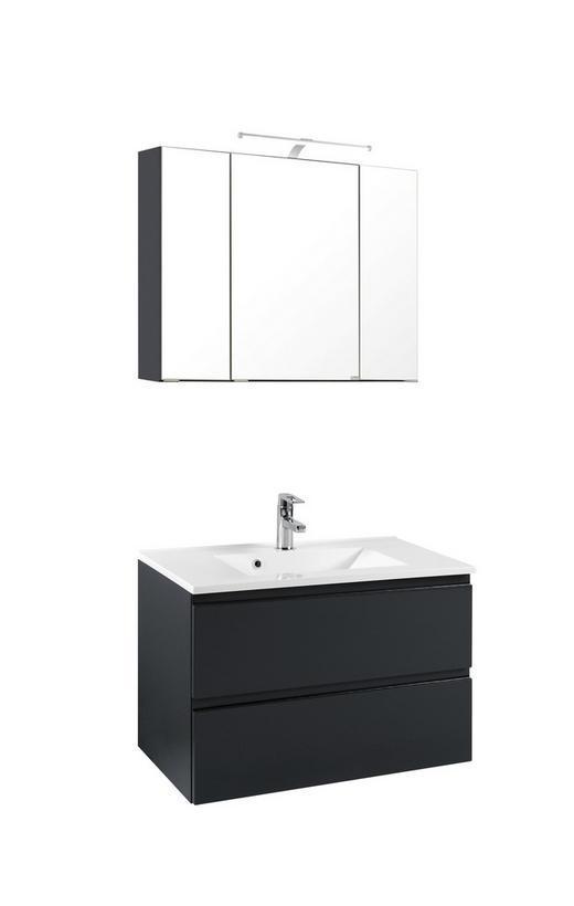 WASCHTISCHKOMBI Grau - Graphitfarben/Weiß, Design, Holzwerkstoff (80/200/47cm) - Xora