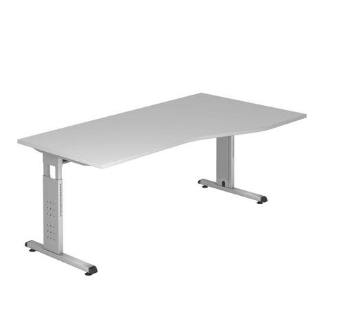 SCHREIBTISCH in Metall, Holzwerkstoff  - Silberfarben/Grau, KONVENTIONELL, Holzwerkstoff/Metall (100/180cm)