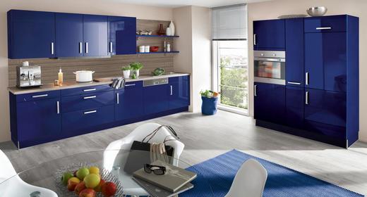 EINBAUKÜCHE - Blau/Eichefarben, Design - Eschebach