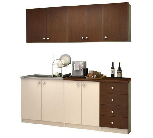 KUHINJSKI BLOK - bež/wenge boje, Konvencionalno, drvni materijal (180/200/60cm) - Boxxx
