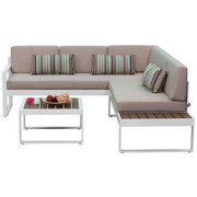 LOUNGE SOFA - bijela/bež, Moderno, metal/tekstil (219/62/192cm) - Ambia Garden