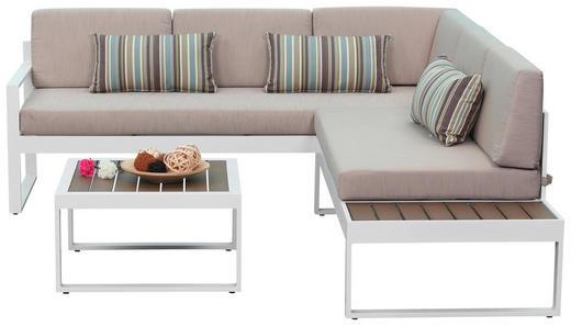 LOUNGE ZOFA Polywood® aluminij - bela/bež, Moderno, kovina/umetna masa (219/62/192cm) - Ambia Garden