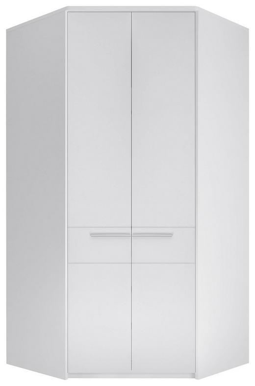 ECKKLEIDERSCHRANK 112/230/112 cm - Silberfarben/Weiß, KONVENTIONELL, Holzwerkstoff/Kunststoff (112/230/112cm) - Carryhome