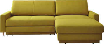 WOHNLANDSCHAFT in Textil Gelb  - Gelb/Naturfarben, KONVENTIONELL, Holz/Textil (250/158cm) - Venda