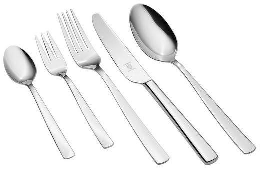 BESTECKSET  60-teilig  Edelstahl - Edelstahlfarben, Basics, Metall (50,2/39,5/6,1cm) - Justinus