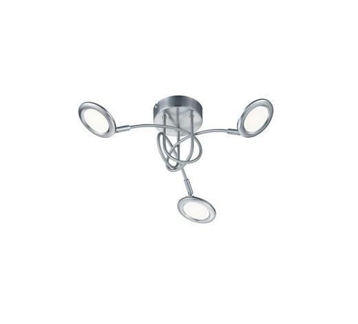 LED SVJETILJKA STROPNA - bijela/boje nikla, Moderno, metal/plastika (52/17,5cm)