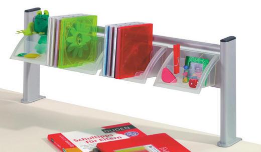 SCHREIBTISCHAUFSATZ Silberfarben - Silberfarben, Basics, Kunststoff/Metall (65/25,5/15,5cm) - PAIDI