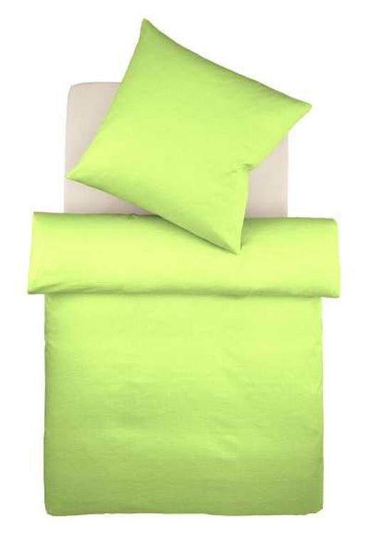BETTWÄSCHE Makosatin Hellgrün 135/200 cm - Hellgrün, Basics, Textil (135/200cm) - Fleuresse