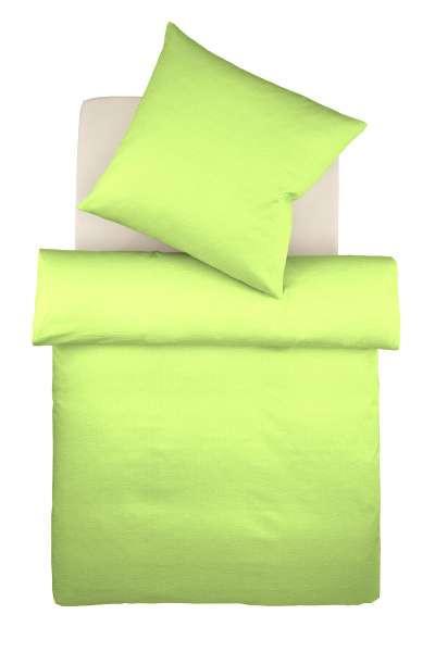 BETTWÄSCHE Makosatin Hellgrün 135/200 cm - Hellgrün, Textil (135/200cm) - FLEURESSE