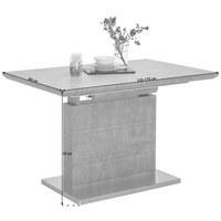 STOL ZA BLAGOVAONICU - siva/boje oplemenjenog čelika, Design, drvni materijal/metal (120(170)/80/76cm) - CARRYHOME