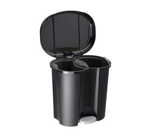 KOŠ ODPADKOVÝ, černá - černá, Basics, umělá hmota (39/32/40,5cm) - Rotho