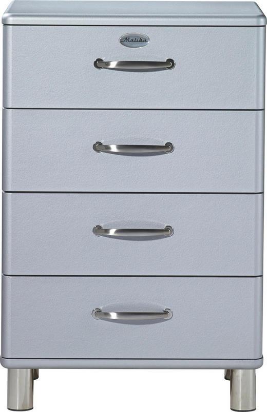 KOMMODE Silberfarben - Silberfarben/Nickelfarben, Design, Metall (60/92/41cm) - Carryhome