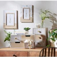 FOTORAHMEN in Naturfarben, Weiß - Naturfarben/Weiß, Trend, Glas/Holz (20,5/25,5cm) - Ambia Home