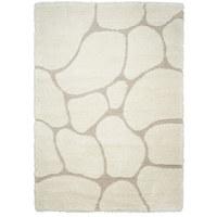 TEPIH VISOKOG FLORA - bijela, Trend, tekstil (80/150cm) - Novel