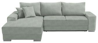 WOHNLANDSCHAFT in Textil Mintgrün - Silberfarben/Mintgrün, Design, Kunststoff/Textil (196/276cm) - Cantus