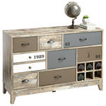 KOMMODE Braun, Grau, Weiß  - Silberfarben/Schwarz, Design, Metall (118,5/78/39,6cm) - Xora