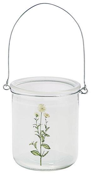 VÄRMELJUSHÅLLARE - vit/silver, Trend, metall/glas (10/12cm) - Ambia Home