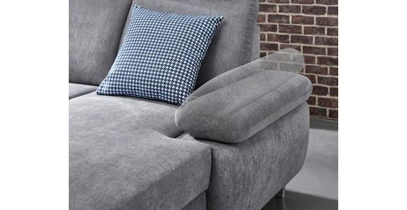 WOHNLANDSCHAFT in Textil Silberfarben  - Silberfarben, KONVENTIONELL, Holz/Textil (186/322/167cm) - Cantus