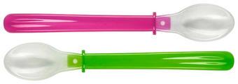 LŽÍCE DĚTSKÁ - růžová/zelená, Basics, umělá hmota (22cm) - My Baby Lou