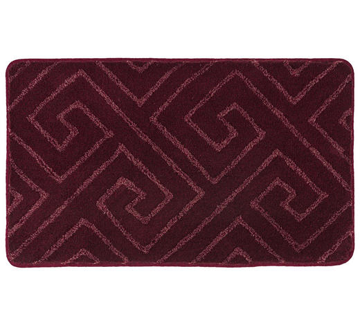 BADTEPPICH in Rosa 60/100 cm - Rosa, KONVENTIONELL, Kunststoff/Textil (60/100cm) - Kleine Wolke