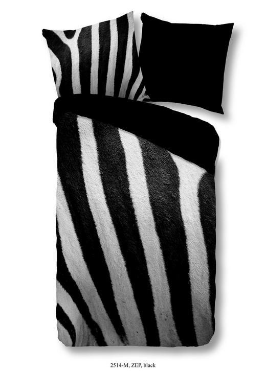 BETTWÄSCHE Mikrofaser Schwarz, Weiß 135/200 cm - Schwarz/Weiß, Trend, Textil (135/200cm)
