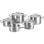 KOCHTOPFSET  Edelstahl  5-teilig   - Silberfarben, Basics, Metall - Fissler