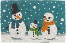 FUßMATTE 40/60 cm Weihnachten Blau, Weiß  - Blau/Weiß, Basics, Textil (40/60cm) - Esposa