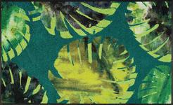 FUßMATTE 75/120 cm Floral Grün - Grün, Kunststoff/Textil (75/120cm) - Esposa