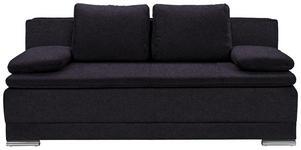 SCHLAFSOFA in Textil Anthrazit  - Chromfarben/Anthrazit, MODERN, Kunststoff/Textil (200/100/97,5cm) - Carryhome