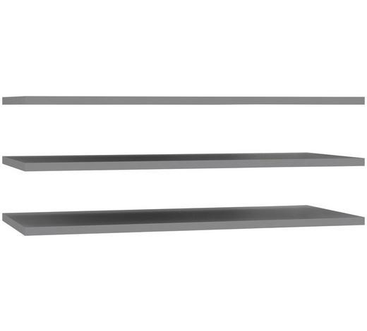 SADA VKLÁDACÍCH POLIC, šedá - šedá, Design, kompozitní dřevo (97,8/42/2,2cm) - Carryhome