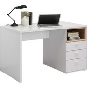 PSACÍ STŮL - bílá/barvy dubu, Design, kov/kompozitní dřevo (120/74/70cm) - Hom`in