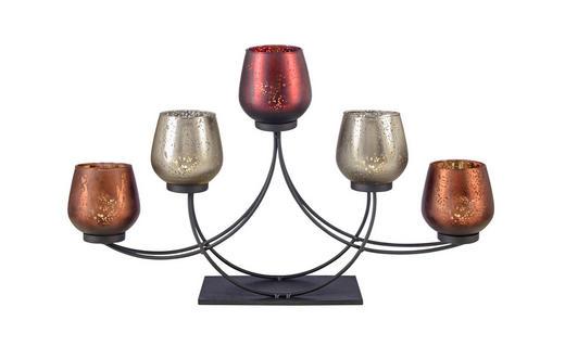 TEELICHTHALTER - Schwarz, Basics, Glas/Metall (51/10/22,5cm) - Ambia Home