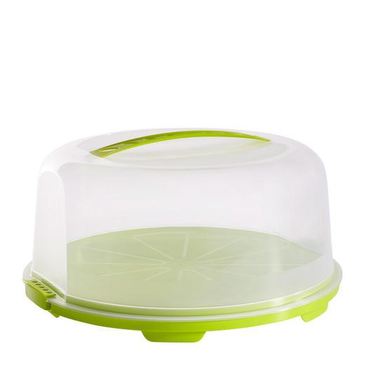 TORTENGLOCKE - Transparent/Limette, Basics, Kunststoff (35,5/34,5/16,5cm) - Rotho