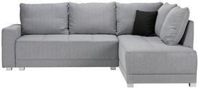 SOFFA - ljusgrå/silver, Design, textil/plast (243/89/207cm) - Xora