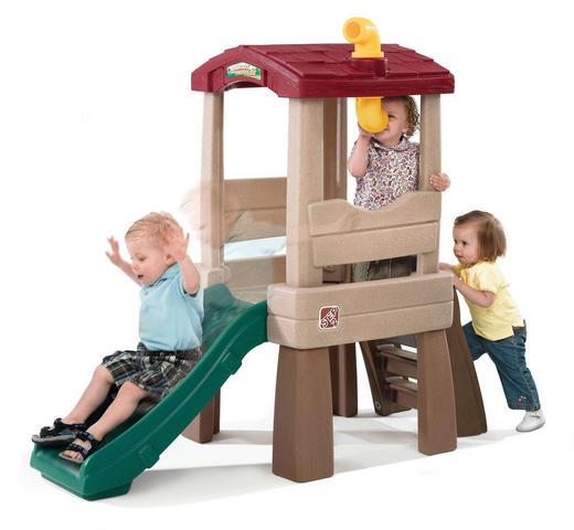 Spielturm Lookout Treehouse - Rot/Braun, Basics, Kunststoff (63,5/146,1/168,9cm)
