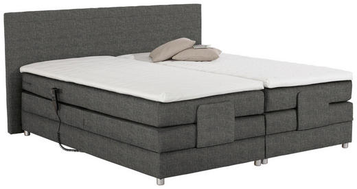 BOXSPRINGBETT 180/200 cm  in Grau - Silberfarben/Grau, Design, Kunststoff/Textil (180/200cm) - Carryhome