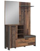 ŠATNA, tmavě šedá - tmavě šedá, Trend, kov/kompozitní dřevo (131,5/201/41,5cm) - Carryhome