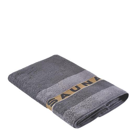 SAUNATUCH 80/200 cm - Anthrazit, Basics, Textil (80/200cm) - Cawoe