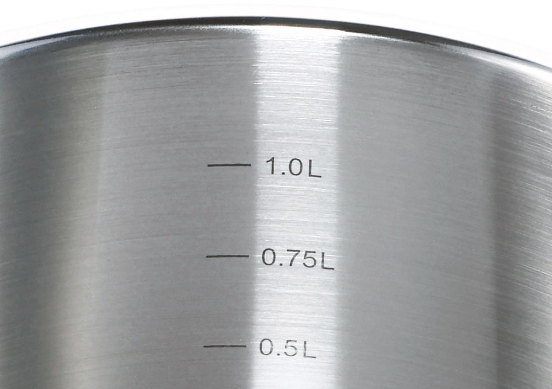 BRATENTOPF  Edelstahl 1,00 L - Edelstahlfarben, Metall (14cm) - SCHULTE UFER